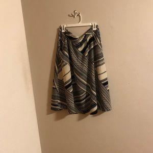 Old Navy Tribal Print Flare Skirt, Large